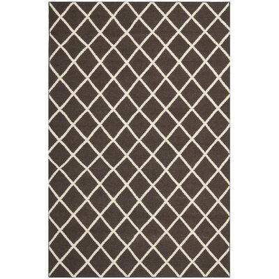 Danbury Hand-Woven Brown / Ivory Area Rug Rug Size: Rectangle 5 x 8