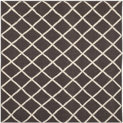 Danbury Hand-Woven Brown / Ivory Area Rug Rug Size: Square 6