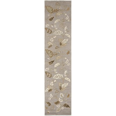 Autumn Woods Hand-Tufted Gray Squirrel Area Rug Rug Size: Runner 23 x 10