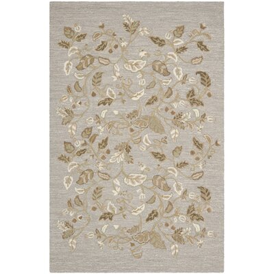 Autumn Woods Hand-Tufted Gray Squirrel Area Rug Rug Size: 5 x 8