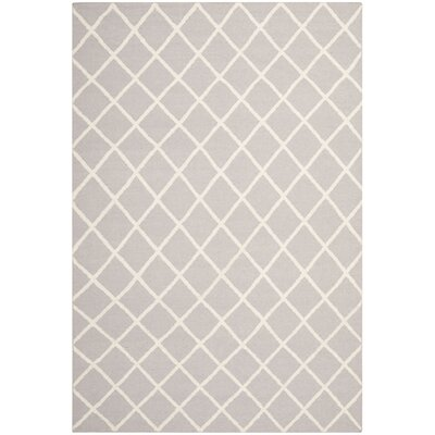 Danbury Hand-Woven Wool Gray/Ivory Area Rug Rug Size: Rectangle 3 x 5