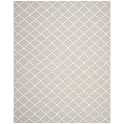 Danbury Hand-Woven Wool Gray/Ivory Area Rug Rug Size: Rectangle 6 x 9