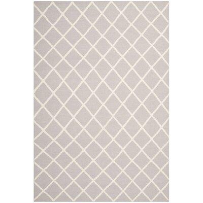 Danbury Grey / Ivory Area Rug Rug Size: 4 x 6