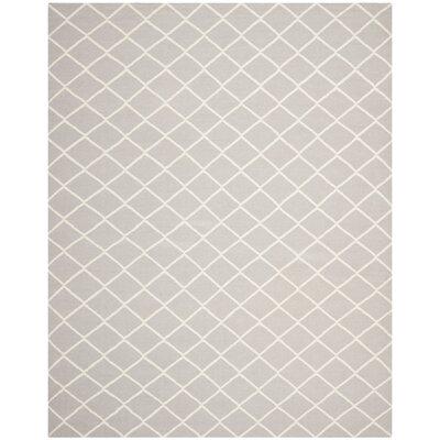Danbury Hand-Woven Grey / Ivory Area Rug Rug Size: 8 x 10