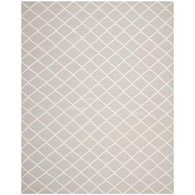 Danbury Hand-Woven Grey / Ivory Area Rug Rug Size: 9 x 12