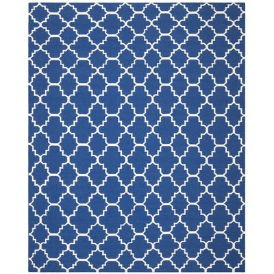 Danbury Dark Blue/Ivory Area Rug Rug Size: Rectangle 8 x 10
