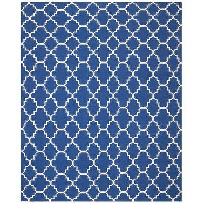 Danbury Dark Blue/Ivory Area Rug Rug Size: 8 x 10