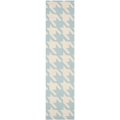 Mccall Light Blue / Ivory Area Rug Rug Size: Runner 26 x 10