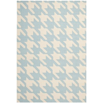 Mccall Light Blue / Ivory Area Rug Rug Size: Rectangle 5 x 8
