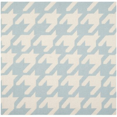 Mccall Light Blue / Ivory Area Rug Rug Size: Square 6 x 6