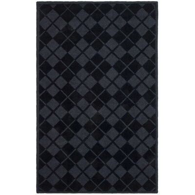 Argyle Hand-Loomed Wrought Iron Area Rug Rug Size: 5 x 8