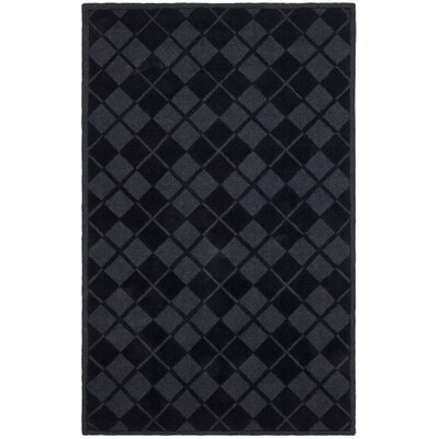 Argyle Hand-Loomed Wrought Iron Area Rug Rug Size: 9 x 12