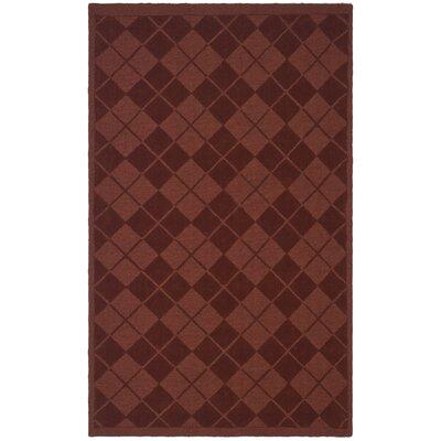 Argyle Hand-Loomed Ohio Buckeye Area Rug Rug Size: 5 x 8