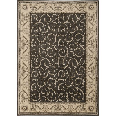 Dalrymple Charcoal Area Rug Rug Size: 53 x 75