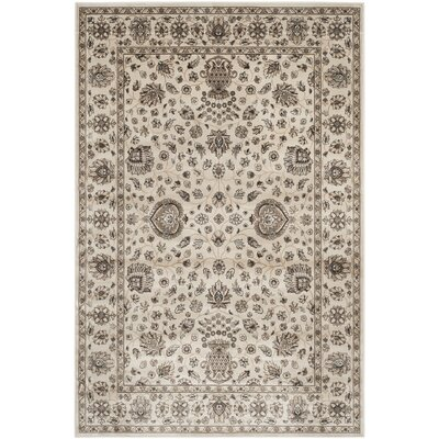 Bedford Ivory Area Rug Rug Size: Rectangle 51 x 77