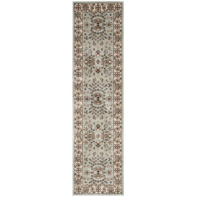 Bedford Light Blue/Ivory Area Rug Rug Size: Runner 22 x 8