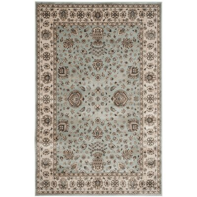 Bedford Light Blue/Ivory Area Rug Rug Size: 67 x 92