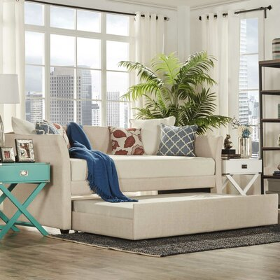 Burlington Daybed with Trundle Color: Beige