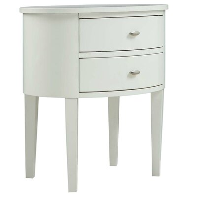 Canterbury End Table With Storage� Color: White