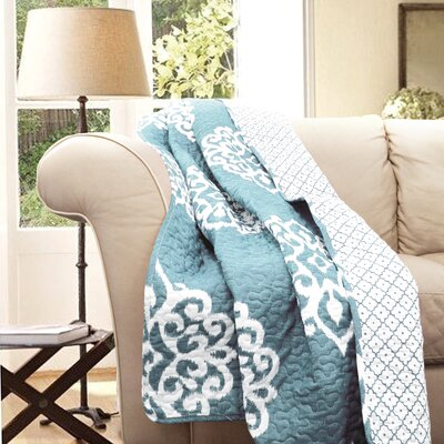 Stroudsburg Cotton Throw Blanket Color: Blue