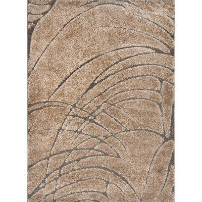 Quince Beige Area Rug Rug Size: 52 x 72