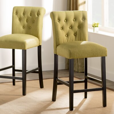 Mapletown 26 Bar Stool Upholstery: Apple Green