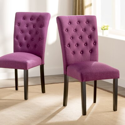 Mapletown Parsons Chair Upholstery: Orchid