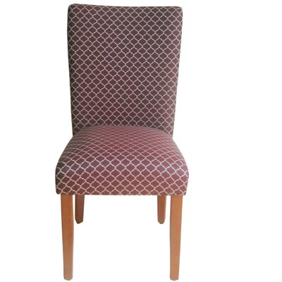Waverly Parsons Chair Upholstery: Burgundy Mini Quatrefoil