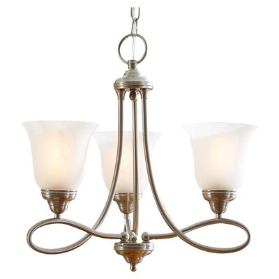 Norwood 3-Light Shaded Chandelier Finish: Satin Nickel with Marble Shade