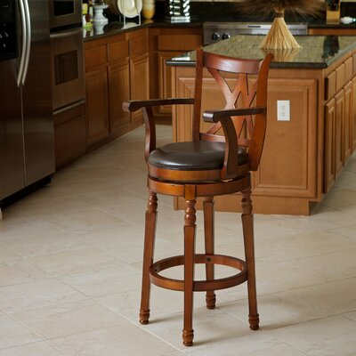 Attica 30.5 Swivel Bar Stool Finish: Brown