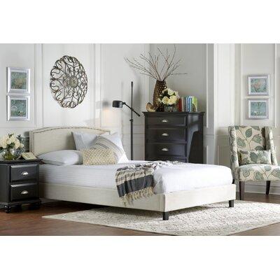 Queen Upholstered Platform Bed Upholstery: Beige