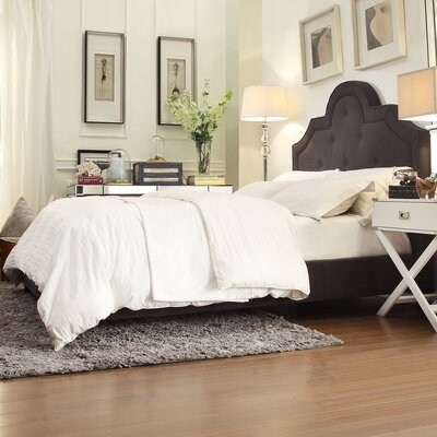 Carrollton Upholstered Panel Bed Size: Queen, Color: Dark Grey