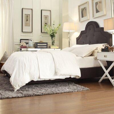 Carrollton Upholstered Panel Bed Size: Queen, Color: Dark Grey