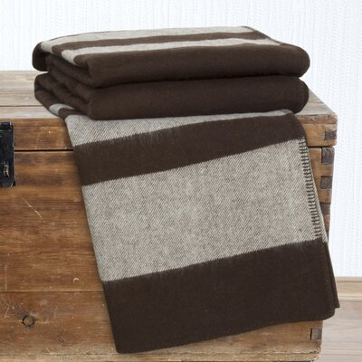Georgetown Australian Wool Throw Blanket Color: Brown, Size: Throw