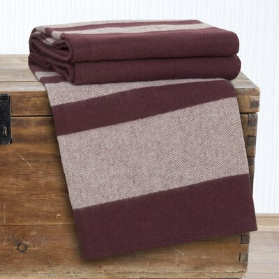 Georgetown Australian Wool Throw Blanket Color: Burgundy, Size: Twin
