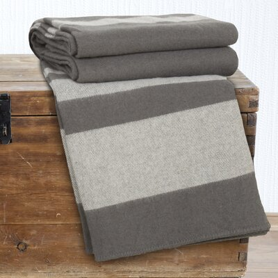 Georgetown Australian Wool Throw Blanket Color: Platinum, Size: King