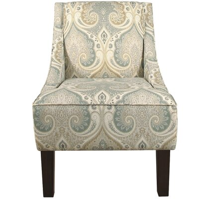 Goldhorn Armchair Upholstery: Latika Seafoam, Nailhead Detail: No Trim