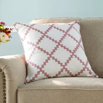 Nob Hill Throw Pillow Size: 20 H x 20 W x 4 D, Color: Salmon
