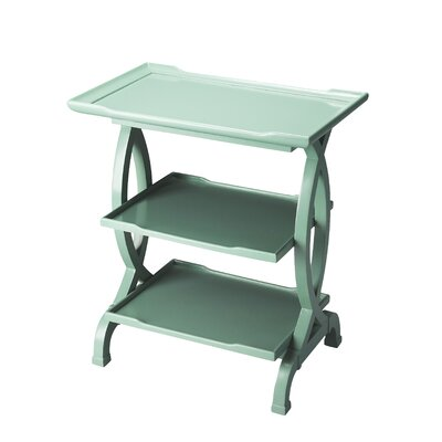 Beachborough End Table Color: Mint Cr�me