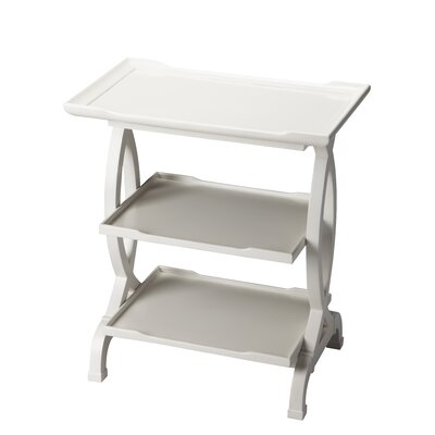 Beachborough End Table Color: Glossy White