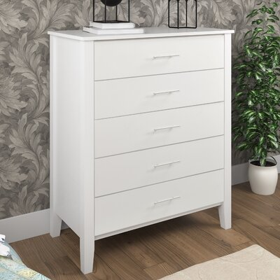 Harleysville 5 Drawer Chest Color: Snow White