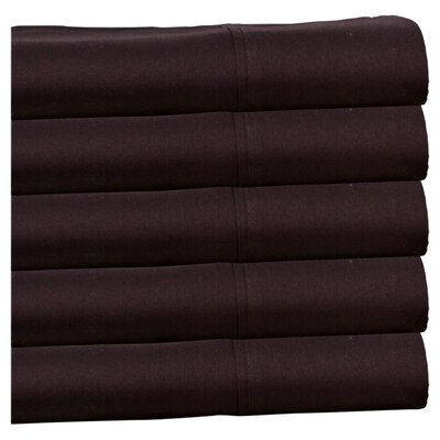Moravia 300 Thread Count Wrinkle Resistant Sateen Sheet Set Size: Full, Color: Chocolate