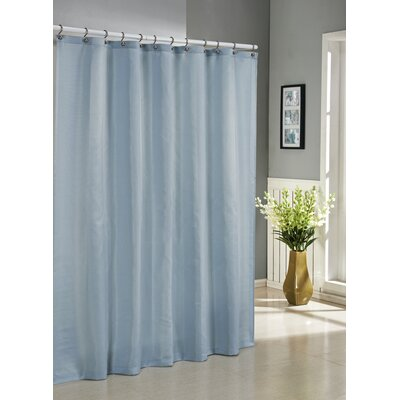 Albion Jacquard Shower Curtain Color: Aqua