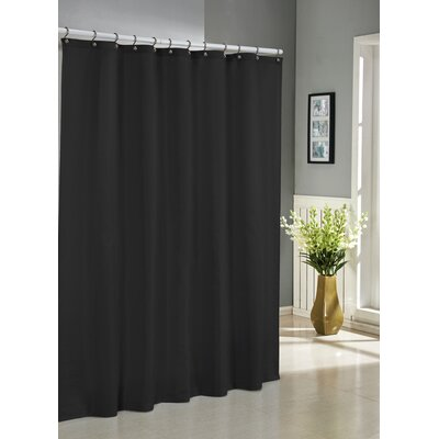 Albion Jacquard Shower Curtain Color: Black