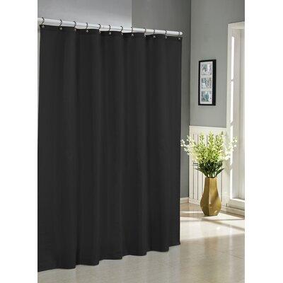 Albion Jacquard Shower Curtain Color: Black