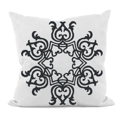 Poestenkill Floral Motif Throw Pillow Size: 18 H x 18 W, Color: White