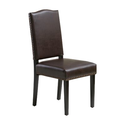 Tillson Side Chair Upholstery: Leather - Brown
