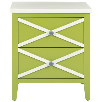 Kinderhook 2 Drawer End Table Finish: Lime Green