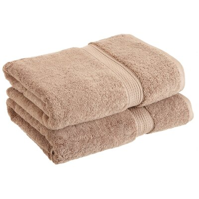 Spring Grove 900 GSM Premium Long-Staple Combed Cotton Towel Set (Set of 2) Color: Latte