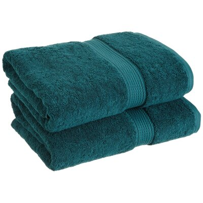 Spring Grove 900 GSM Premium Long-Staple Combed Cotton Towel Set (Set of 2) Color: Teal